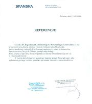 Referecncje SKANSKA S.A.