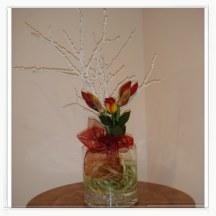 Kompozycja w naczyniu szklanym