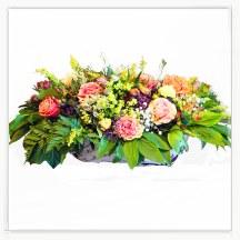 Koszyk pastelowych kwiatów