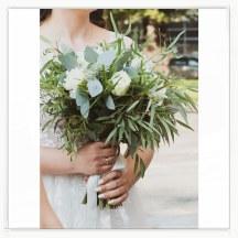 Bukiet ślubny z eukaliptusem