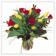 Róże i tulipany