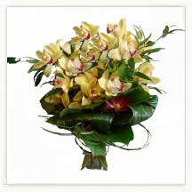 Elegant Bouquet With The Orchid