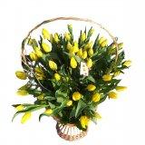 Kosz z tulipanów