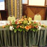 Dekoracja na stół prezydialny