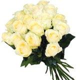 Białe różyczki